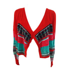 Gilet, cardigan CHACOK rouge turquoise