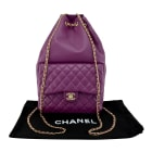 Backpack CHANEL Purple, mauve, lavender