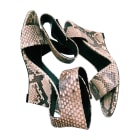 Wedge Sandals CÉLINE Animal prints