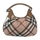 Leather Shoulder Bag BURBERRY Beige, camel