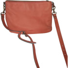 Leather Shoulder Bag VANESSA BRUNO Orange