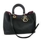 Leather Shoulder Bag DIOR Black