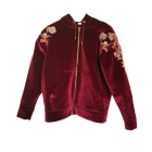 Zipped Jacket SANDRO Red, burgundy