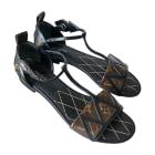 Flat Sandals LOUIS VUITTON Brown
