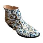 Bottines & low boots à talons CHLOÉ Susanna Blanc, blanc cassé, écru