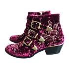 Bottines & low boots à talons CHLOÉ Susanna Rouge, bordeaux