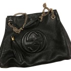Leather Handbag GUCCI Soho Black