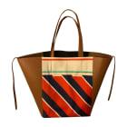 Leather Handbag CÉLINE Multicolor