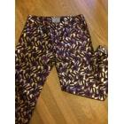 Pantalon droit HEIMSTONE Doré, bronze, cuivre