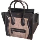 Leather Handbag CÉLINE Luggage Black