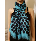 Scarf GUCCI turquoise avec pois noirs