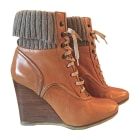 Bottines & low boots à talons CHLOÉ Beige, camel