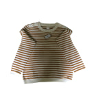 Sweater DES PETITS HAUTS Rayé ecru/moutarde
