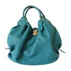 Sac à main en cuir LOUIS VUITTON Bleu, bleu marine, bleu turquoise