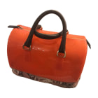 Leather Handbag FURLA Orange