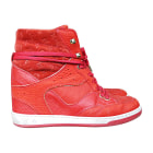 Sneakers LOUIS VUITTON Rot, bordeauxrot