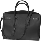 Leather Handbag SAINT LAURENT Sac de Jour Gray, charcoal