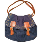 Non-Leather Handbag SONIA RYKIEL Blue, navy, turquoise