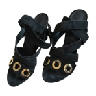 Heeled Sandals LOUIS VUITTON Black