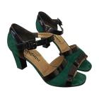 Sandali con tacchi YVES SAINT LAURENT Verde