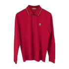 Polo MONCLER Rouge, bordeaux