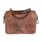 Leather Shoulder Bag KENZO Animal prints