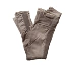 Skinny Pants, Cigarette Pants MAJE Gray, charcoal