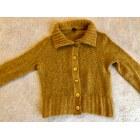 Vest, Cardigan AVENTURES DES TOILES MOUTARDE