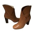 High Heel Ankle Boots CÉLINE Beige, camel