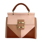 Leather Handbag ROGER VIVIER Beige, camel