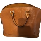 Leather Handbag LOUIS VUITTON Alma Beige, camel