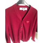 Vest, Cardigan COMME DES GARÇONS PLAY Red, burgundy