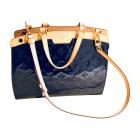 Leather Handbag LOUIS VUITTON Blue, navy, turquoise