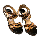 Sandales à talons JIMMY CHOO léopard