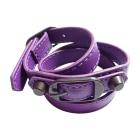 Bracelet BALENCIAGA Violet, mauve, lavande