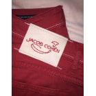 Straight Leg Jeans JACOB COHEN Red, burgundy