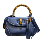 Leather Shoulder Bag GUCCI Blue, navy, turquoise