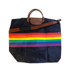 Non-Leather Oversize Bag LONGCHAMP Blue, navy, turquoise