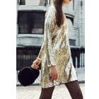 Tunic Dress CLAUDIE PIERLOT Golden, bronze, copper