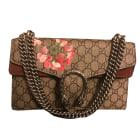 Leather Handbag GUCCI Dionysus Beige, camel
