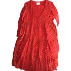 Midi Dress SÉZANE Corail rouge
