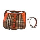 Leather Shoulder Bag BURBERRY Orange