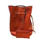 Sac en bandoulière en cuir LANCEL Orange