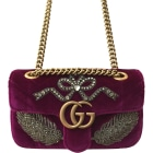 Leather Handbag GUCCI Marmont Pink, fuchsia, light pink