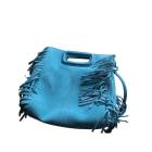 Leather Handbag MAJE Turquoise