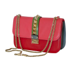 Leather Shoulder Bag VALENTINO Glam lock Multicolor