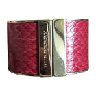 Bracelet BURBERRY Red, burgundy