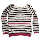 Sweater MAJE Rose et marine