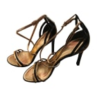 Heeled Sandals LOUIS VUITTON Golden, bronze, copper