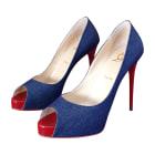 Peep-Toe Pumps CHRISTIAN LOUBOUTIN Bleu jean